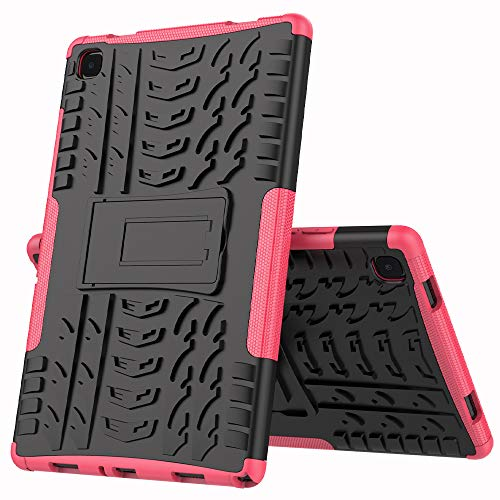 XITODA Hülle für Samsung Galaxy Tab A7 10.4 2020,Hybrid PC + TPU Silikon Mit Stand Case Cover Schutzhülle für Samsung Galaxy Tab A7 LTE WiFi SM-T500/T505/T507 10,4 Zoll Tablet,Hot Pink