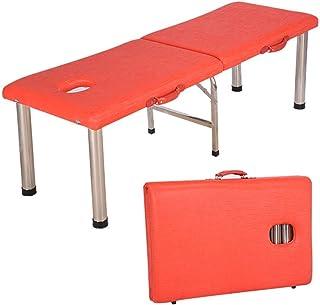 سرير تدليك جميل، سرير طاولة التدليك ومقسمين، بعرض 60 سم، قابل للطي، من الفولاذ المقاوم للصدأ، قابل للطي، مناسب للاستخدام ع...
