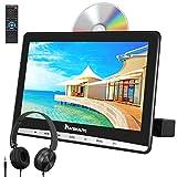 NAVISKAUTO 12' DVD Player Auto Slot In Tragbarer DVD Player Kopfstütz Monitor Bildschirm Memory TF USB AV In/Out 12V