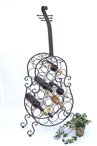 DanDiBo Weinregal Cello aus Metall stehend 100136 Flaschenhalter 134 cm Flaschenregal Wein Bar
