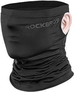 ROCK BROS Cooling Neck Gaiter Face Mask Bandana UPF50+ Sun Protection Fishing Cycling Cool Neck Gaiter Black