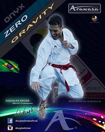Arawaza Onyx Zero Gravity WKF Approved Kumite Karate Gi, weiß, 5/180