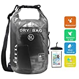 HEETA Waterproof Dry Bag for Women Men, 5L/ 10L/ 20L/ 30L Roll Top Lightweight Dry Storage Bag Backpack with Phone Case for Travel, Swimming, Boating, Kayaking, Camping and Beach