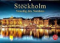 """Stockholm - Venedig des Nordens (Wandkalender 2022 DIN A2 quer): Seinem durch Bruecken und Wasserwege gekennzeichneten Stadtbild verdankt Stockholm die Bezeichnung """"Venedig des Nordens."""" (Geburtstagskalender, 14 Seiten )"""