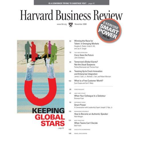 Harvard Business Review, November 2008 copertina