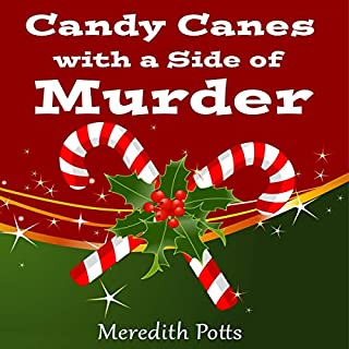 Candy Canes with a Side of Murder audiobook cover art
