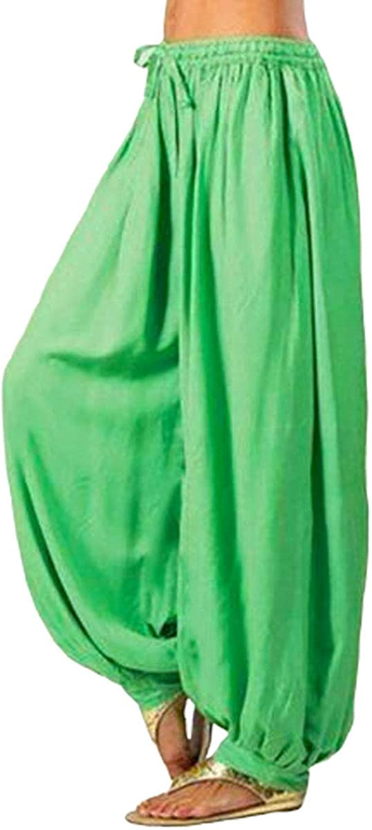 Women Harem Trouser Pants Aladdin Afghan Genie Sport Dancing Loose Casual Cotton Long Pants