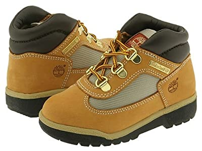 Timberland Kids Field Boot Leather Fabric Core (Toddler/Little Kid) (Wheat Nubuck) Boys Shoes