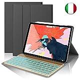 SENGBIRCH Custodia Tastiera per iPad PRO 11, Slim Fit Cover Protettiva per con Italian Tastiera...