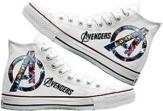 Art T-Shirt -Avengers Baskılı Unisex Canvas Ayakkabı