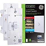 GE Enbrighten Z-Wave Plus Smart Light Switch 2-pack, QuickFit & SimpleWire, Commercial 120/277VAC, Compatible with Alexa, Google Assistant, ZWave Hub & Neutral Wire Required, Toggle, 49187,White