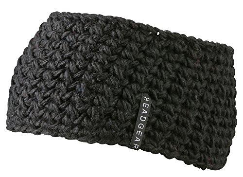 Bandeau de tête MB - Grosse maille et doublure - Disponible en 9 superbes couleurs - Mode ski - Noir -