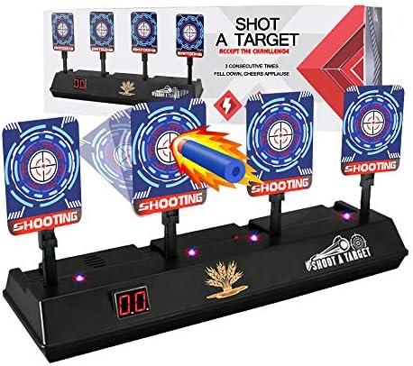 Electronic Shooting Target for Nerf Guns Auto Reset Digital Scoring Shooting Practice 4 Targets product image