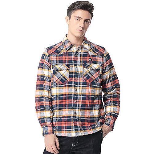 Pau1Hami1ton PJ-02 Herren Winterjacke beheizbare Heiz-Jacke beheizbare Softshell-Jacke Heat Jacket Reissverschluss warm Jacke (S, Orange)