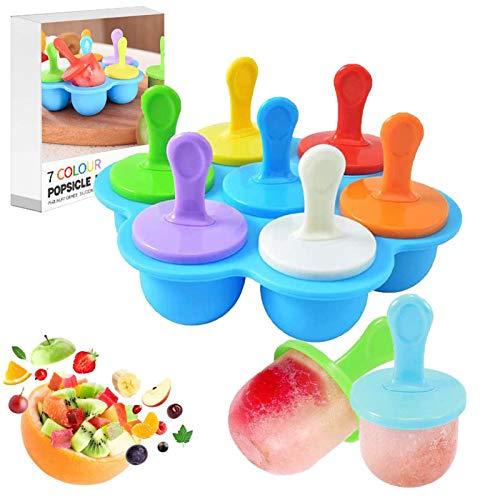 Eisförmchen Popsicle Formen,Eisformen BPA Frei,Silikon Eisformen,Perfekt für Kinder, Baby und Erwachsene (Blau)