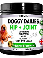 DOG JOINT CARE SUPPLEMENTS | Reduces Pain, Improves Mobility & Flexibility, Reduces Inflammation, Lubricates Stiff Joints, Strengthens Bones & Connective Tissues And Increases Energy Levels. All Wrapped In A Tasty Chew Your Dog Will Simply Enjoy. Dog...