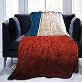 ZQHRS Manta de Franela, Bandera de Chile en la Pared Vieja, Mantas acogedoras con Borde Cosido, Alfombra portátil térmica de Felpa para sofá Cama 60x50 Pulgadas