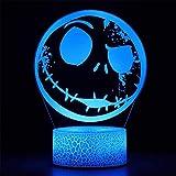 Lámpara de ilusión 3D, luz nocturna de Halloween, controlador de ciudad, 16 colores, cambiante, lámpara de escritorio para niños, Navidad, cumpleaños, decoración del hogar
