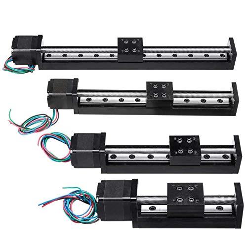 Durable 1PCS CNC CNC Guide Linéaire Scène Slide Slide Scène Actionneur 50/15/150 / 200mm T6 * 2 Actionneur de course à pas à pas pour imprimante 3D Fournitures de bureau (Guide Length : 200mm)