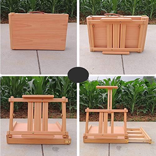 Profesional Base del arte de la haya-madera A3 ajustable Mesa de ...