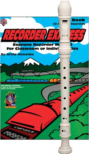 Recorder Pack: Yamaha Ivory Soprano Recorder with Recorder Express Book