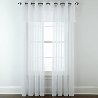 JCPenney Home Bayview Grommet-Top Sheer Panel, 50