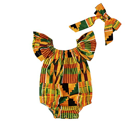 YOUNGER TREE Toddler Kids Baby Girls African Print Clothes Dashiki Style Outfit
