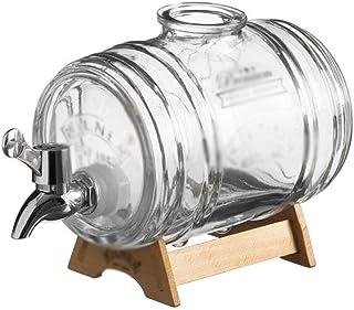 SFMND Distributeur de Whisky en Bois, tonneau à vin, Bouteille de vin étincelante avec Robinet, boîtes scellées, Bar à Boi...