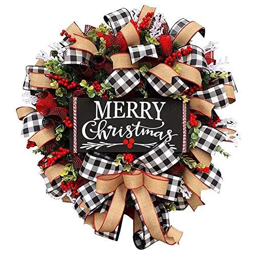 Guirnalda de la Navidad Venue Disposición de los apoyos de la guirnalda decoraciones de Navidad para la puerta Decoración de la Navidad,Black plate