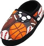 NORTY - Big Boys Sports Balls Fleece Slippers, Multi 40846-6MUSBigKid