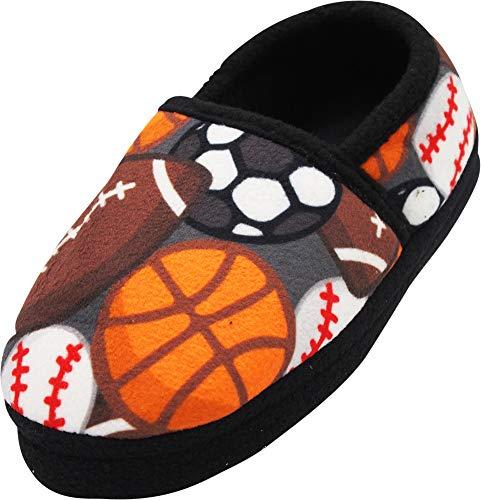 NORTY - Toddler Boys Sports Balls Fleece Slippers, Multi 40828-5MUSToddler