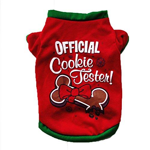 Navidad Ropa de Perro Pequeño Algodón Camiseta Disfraz de Cachorro para Chihuahua Yorkshire Mascota - Official Cooleie Festen