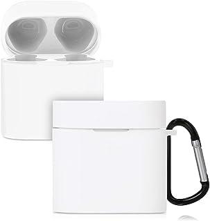 kwmobile Funda de Silicona Compatible con Xiaomi AirDots Pro 2 - Carcasa para Auriculares en Blanco