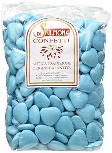 Confetti di Sulmona Cuori al Cioccolato, Celeste - 1000 gr