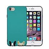 FACEVER Funda iPhone 6s Plus, Bonito Bulldog Francés Mate...
