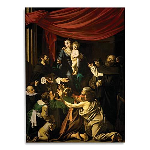 Giallobus - Schilderij - Caravaggio - Onze-Lieve-Vrouw van de Rozenkrans - bedrukking op plexiglas acryl - klaar om op te hangen - Diverse formaten - 70x100 cm