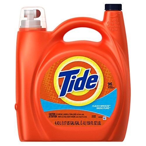 Tide Liquid Laundry Detergent, Clean Breeze Scent, 4.43 L (96 Loads)