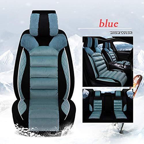LUOLONG Car Seat Cover, Seat Peluche Hiver Universal Car Cover Siège Chaud Coussin pour Jeep Accessoires Renégats Boussole 2018 Cherokee Couvre, Bleu Standard