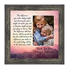 APPRECIATE YOUR TEACHER, mentor, caregiver, babysitter, therapist, or Pastor with this encouraging poem that will thank them for a job well done! A meaningful gift for the classroom, office or to display in their favorite room at home. Picture framed...