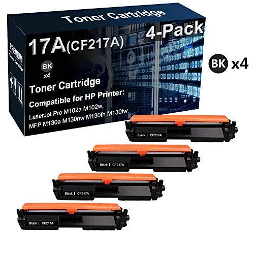 Cartucho de tóner compatible CF217A 17A de alto rendimiento para impresora HP LaserJet Pro M102a M102w / MFP M130a M130fw (negro)