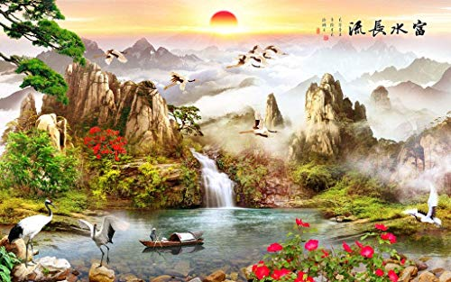 Rising Sun Dongsheng Pintura china Rompecabezas clásico 1000 Piezas Adultos Niños Rompecabezas Rompecabezas de madera DIY Decoración moderna para el hogar Arte de la pared Imagen Regalo único