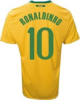 MISC Brazil Ronaldinho #10 Home Jersey
