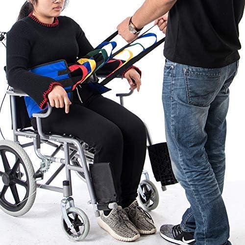 Fushida Stand Assistance Belt - Transfer Sling for Standing- Padded Patient Lift Sling Stand Assist Sling 300lb Weight,Padded Assist Gait Belt,Quicker Easier Safer Transfers & Toileting(FYH290-BLUE)