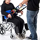 Fushida Stand Assistance Belt - Standing Sling for Transfer - Padded Patient Lift Sling Stand Assist Sling 300lb Weight, Quicker Easier Safer Transfers & Toileting(FYH290-BLUE)