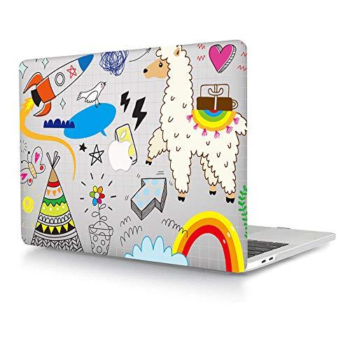 Bandless AJYX - Funda rígida de plástico solo compatible con la versión antigua MacBook Pro de 13 pulgadas (modelo: A1278, con CD-ROM) Release 2012/2011/2010/2009/2008, diseño de animales