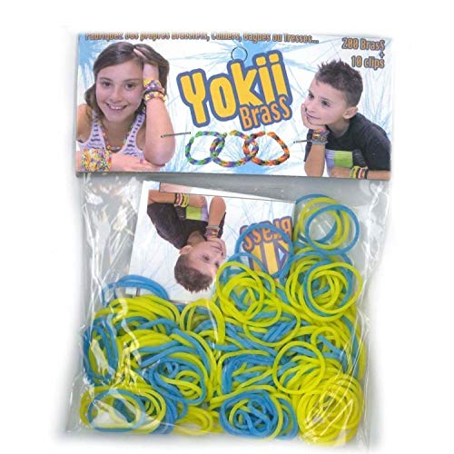Elastiques pour bracelet YOKII Brass Jaune et bleu - Loom Bands