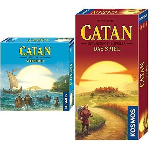 Kosmos - Catan - Seefahrer, neue Edition, Strategiespiel &  - Catan - Ergänzung für 5-6 Spieler, neue Edition, Strategiespiel