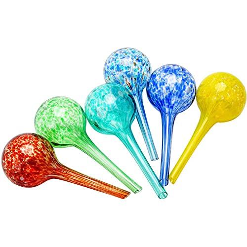 Muxing Bolas de riego de cristal – Riego de plantas, cristal coloreado automático, dispositivo de riego por goteo...