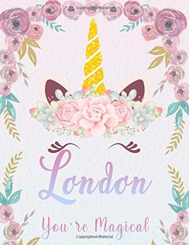 London: Personalized Unicorn Sketchbook For Girls With Pink Name. Unicorn Sketch Book for Princesses. Perfect Magical Unicorn Gifts for Her as Drawing ... Journal / Workbook to Create & Learn to Draw.
