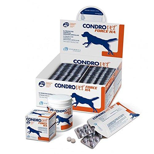 Bioiberica Condrovet Force Ha - Protector de articulaciones para mascotas, 500 Comprimidos